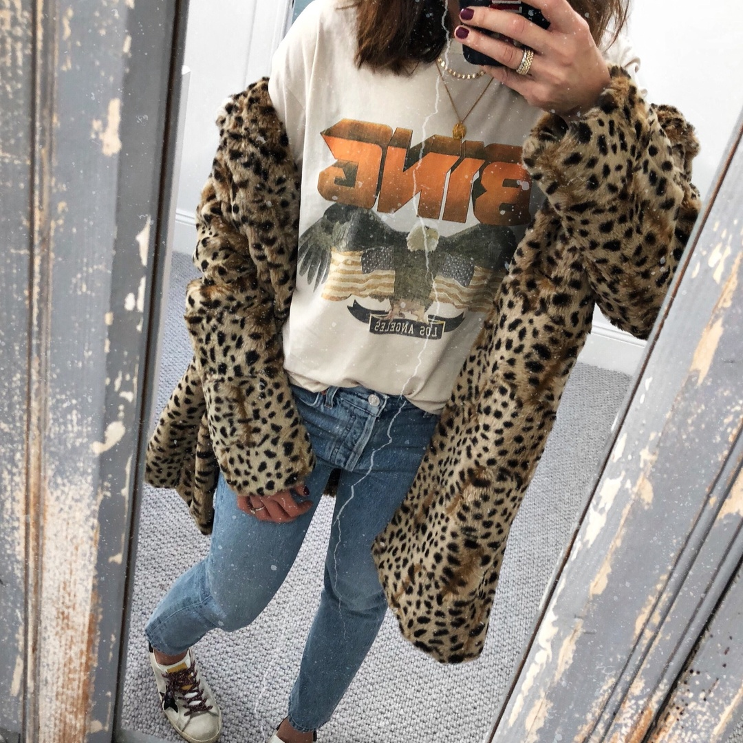 Wednesday Vibes #aninebing #agolde #shopbop #leopard #denim