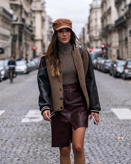 ok #lookoftheday #ootd #mylook #fallstyle #akris #pfw #paris #parisfashionweek #leatherskirt #todaysdetails #currentlywearing