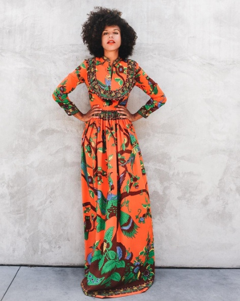Excited to share more from my day with @Farfetch and our visit to @maxfieldla! Gucci orange maxi dress, florals. Summer style. #summerstyle #wearitloveit #getthelook #lookoftheday #ootd #mylook #currentlywearing #todaysdetails #florals #dress #maxidress #maxi #flowery #chic #blogger #lifestyle #fashion #style #designer #farfetch