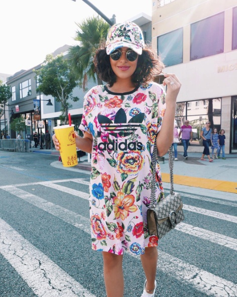 I'm not a regular mom, I'm a cool mom. 😎🍭  #namethatmovie #adidas #streetstyle #ssCollective #ShopStyleCollective #MyShopStyle #springstyle #mylook #ShopStyleFestival #ootd #summerstyle #lookoftheday #currentlywearing #todaysdetails #getthelook #wearitloveit