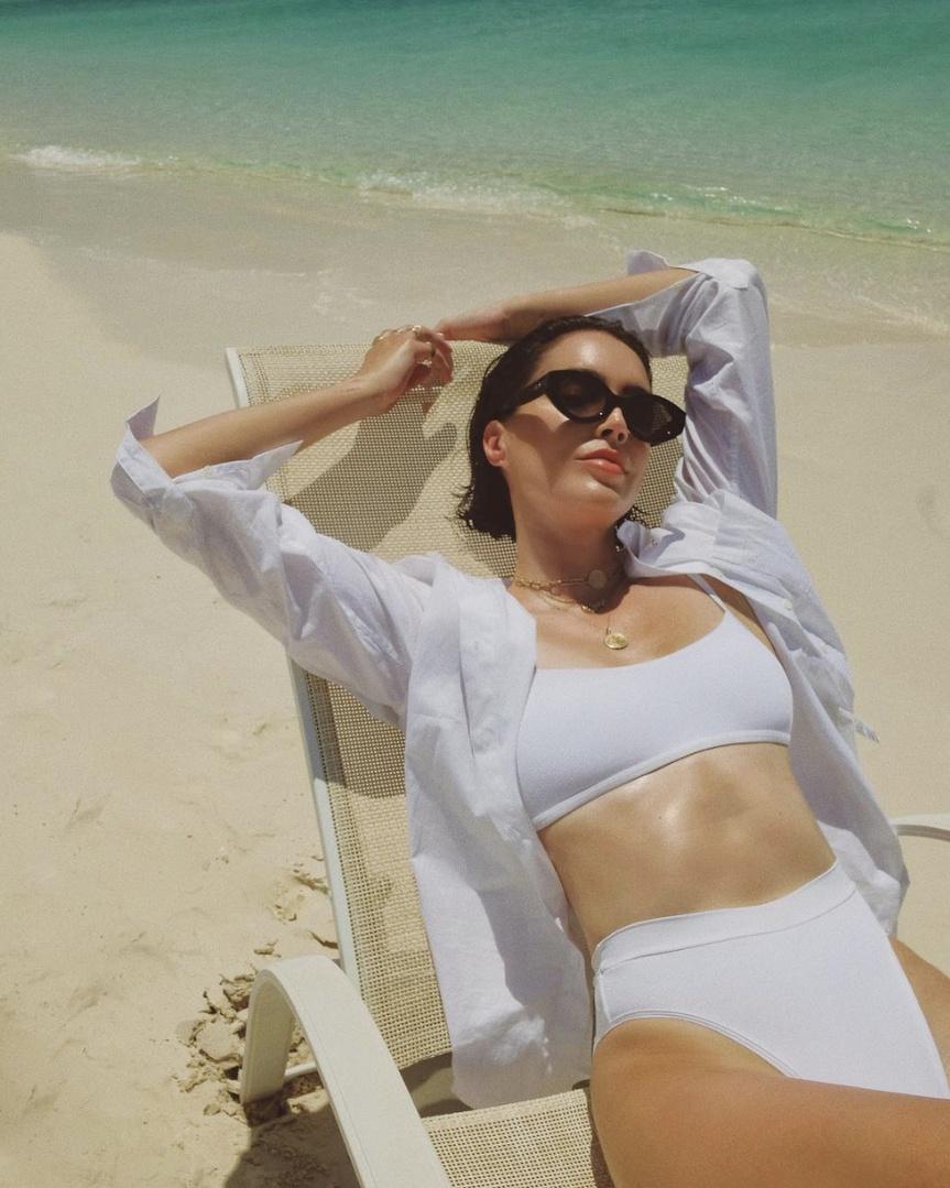ShopStyle #BeachVacation #OOTD #SpringStyle #lspace #highwaistedswim #swimsuit #bikini #white #turks #beach #tropicalvacation