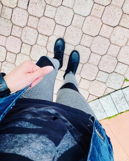 ete the look I also wore combat boots. These are my favorite boots at the moment.  #ShopStyle #MyShopStyle #Lifestyle #Petite