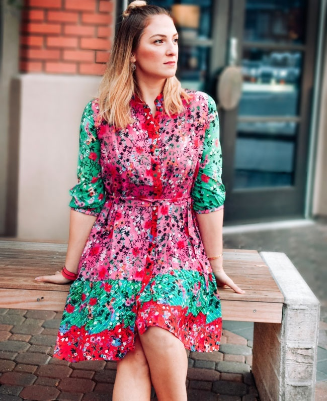 🤫 don't tell anyone, but I looooove dresses. And I always have my 👀 on up-and-coming brands. @saloniofficial is definitely one of those. I love everything about this floral number, from the bright combination of colors to the extra flattering silhouette. You can wear it anywhere & I bet it'll instantly brighten up your day. PS: This & other Saloni dresses are all tagged in the link in my bio. . . . . #partydress #holidaydress #floraldress #saloni #nycstyle #nycblogger #summerdresses #everydayfashion #discoverunder5k #stylegram #stylehunter #instafashion #boutiquefashion #womensfashion #onlineshopping #lifestyleblogger #hairsandstyles #hermesbracelet #topknot #easystyle #thehappynow #pursuepretty #petitejoys #flashesofdelight #ShopStyle #shopthelook #SpringStyle #SummerStyle #MyShopStyle #WeddingGuestLooks #BirthdayParty #BeachVacation #WearToWork #WeekendLook #DateNight #TravelOutfit #OOTD