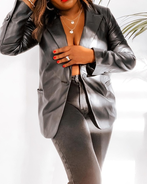The leather blazer of your dreams...        #MyShopStyle #ShopStyle