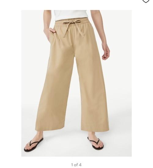 Love these cotton linen pants. Size down!!! #ShopStyle #MyShopStyle #walmart
