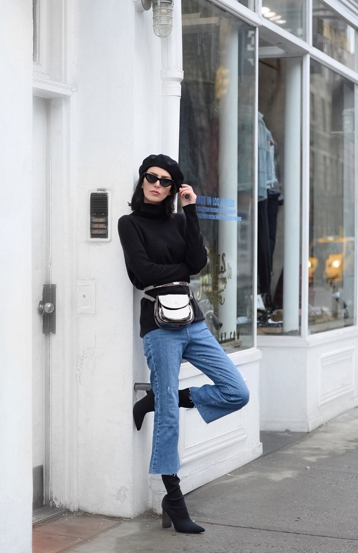 How to create your own belt bag: take a crossbody with a buckle and tie it around your waist.  #beltbag #nyc #streetstyle #winterstyle #winterfashion #ShopStyle #ssCollective #MyShopStyle #ootd #mylook #currentlywearing #lookoftheday #todaysdetails #getthelook #wearitloveit #shopthelook