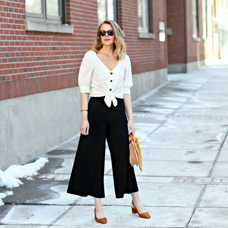 Styling up these wide leg pants - one of the hottest spring trends!  These are flattering on any body type & so comfortable! #ShopStyle #MyShopStyle #LooksChallenge #ContributingEditor #TrendToWatch #