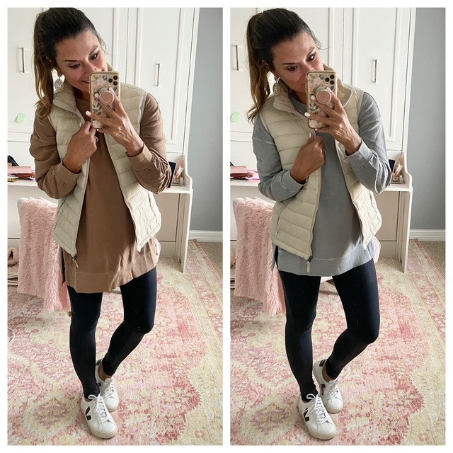 vest and leggings. #justpostedblog #ShopStyle #shopthelook #MyShopStyle #OOTD #LooksChallenge #ContributingEditor #Lifestyle