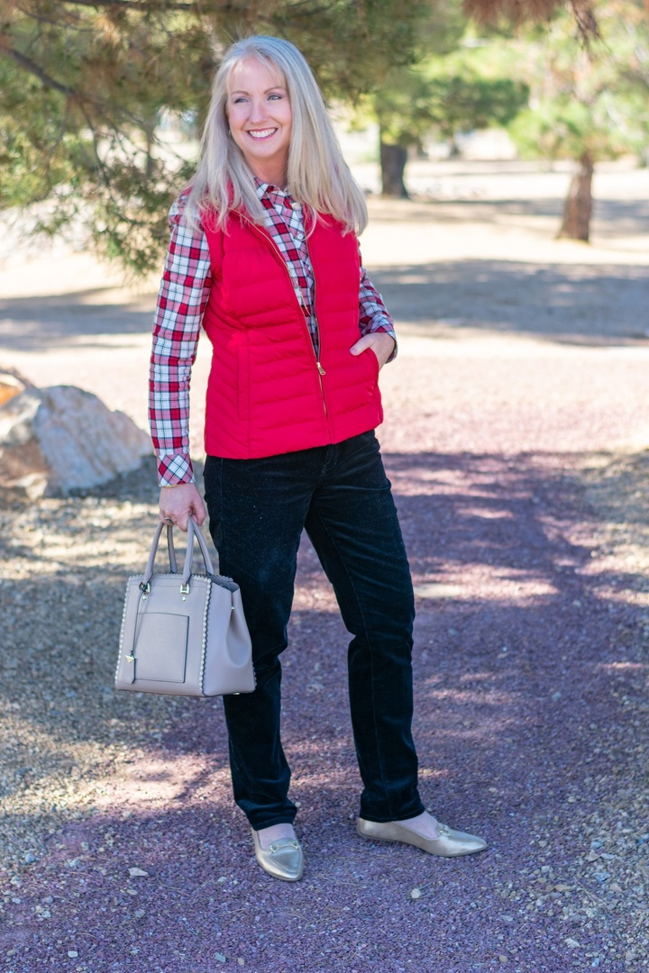 Look by Dressed For My Day featuring Talbots High-Rise Straight-Leg Cords