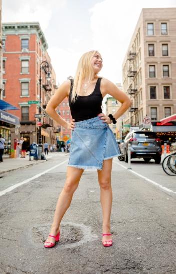 it up. #summerlook #denimskirt #weekendoutfit #styletip #fashionblogger #ShopStyle #MyShopStyle #LooksChallenge #TrendToWatch