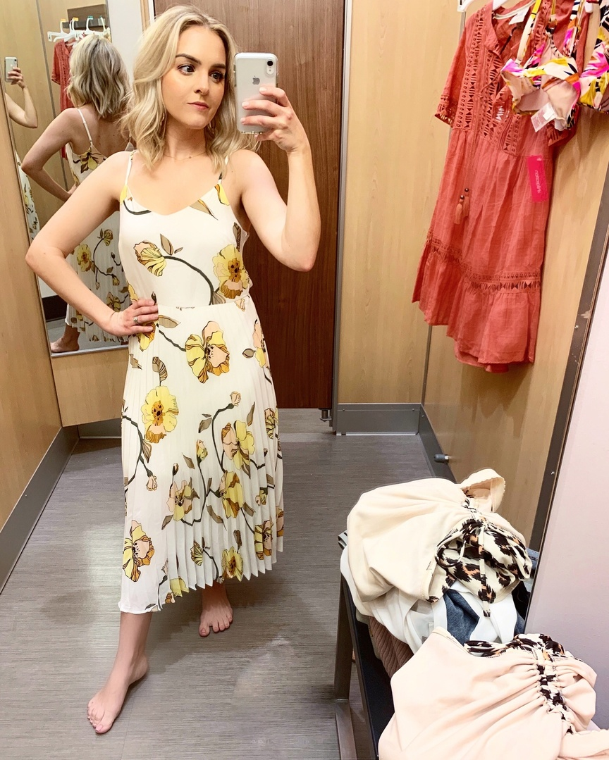Look by welldressedbff featuring A New Day Women's Floral Print Sleeveless Maxi Dress - A New Day Yellow