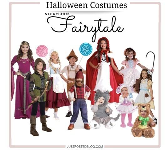 storybook fairytale kids group costumes