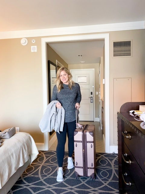I'm sharing a look at my hotel room and what I packed on this trip to Nashville for work!     #ShopStyle #MyShopStyle #Travel