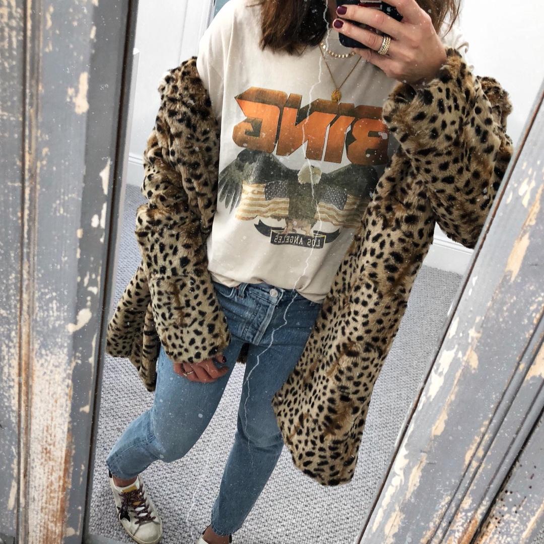 Wednesday Vibes #aninebing #agolde #shopbop #leopard #denim