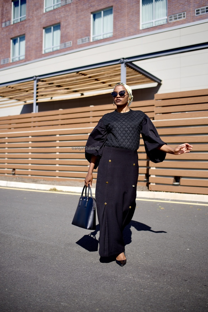 irose.com/collections/skirt/products/black-button-skirt   #ShopStyle #MyShopStyle #ContributingEditor #LooksChallenge #Winter