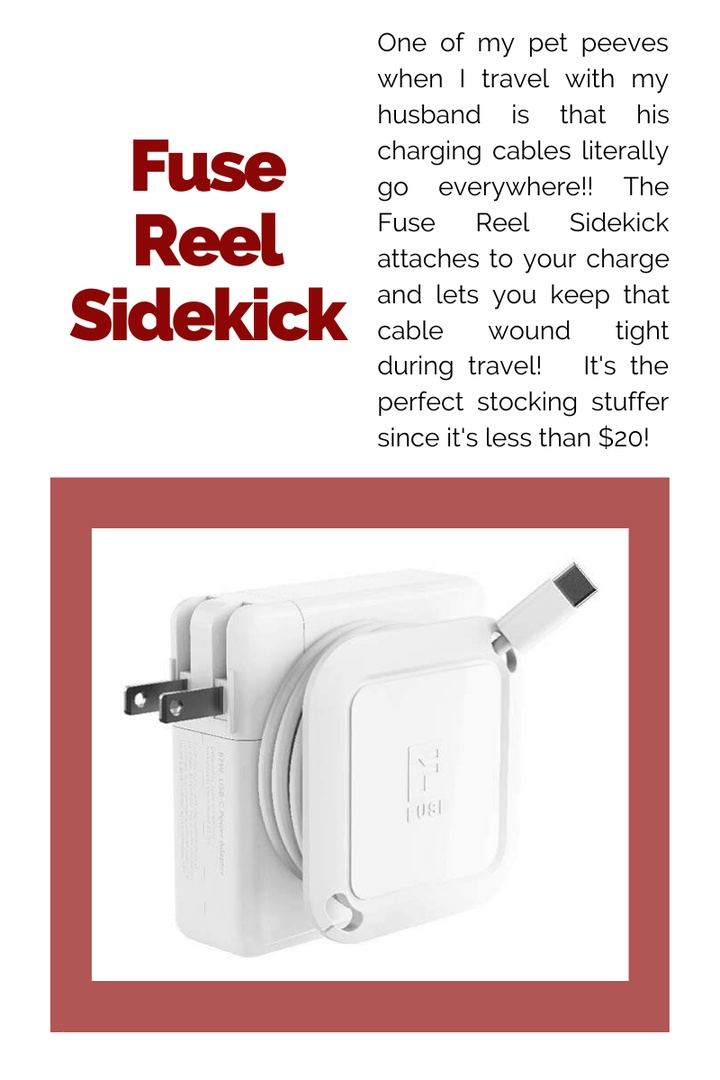 Look by Kristi Hemric featuring Fuse Reel The Side Kick Collapsible Charger Organizer and Travel Accessory Compatible with MacBook and PC charging cords and adapter cable management White