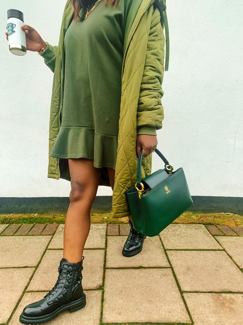 Shop this green padded coat look    #MyShopStyle #ShopStyle #Winter