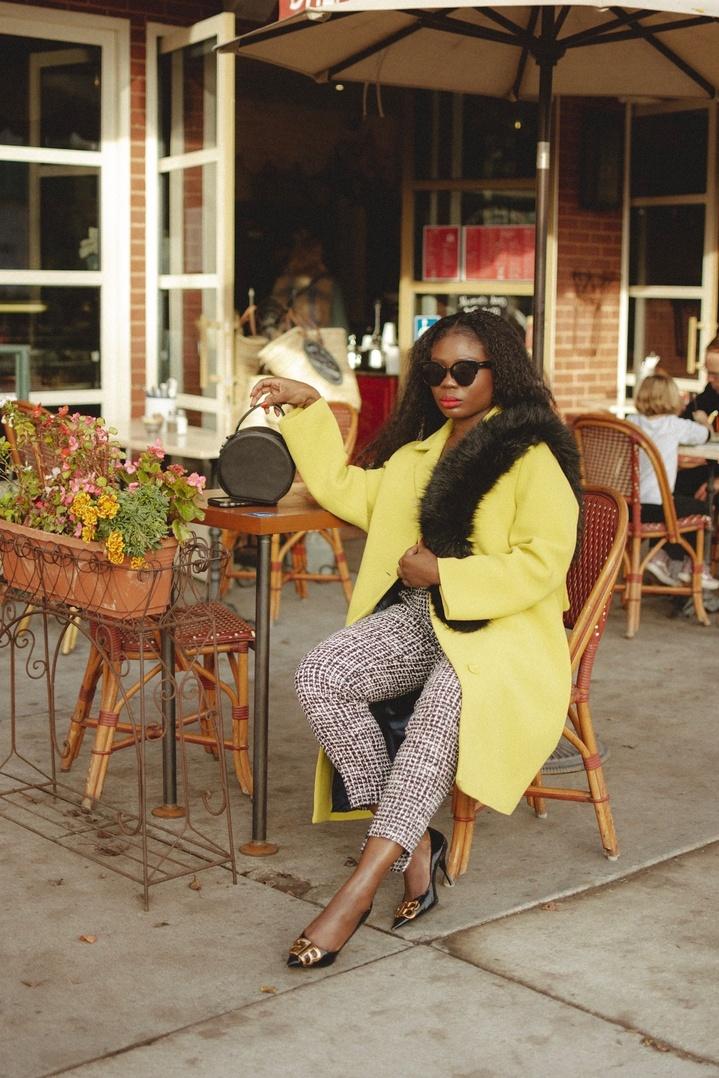 Look by Niké Ojekunle featuring Car coat in Italian double-cloth wool
