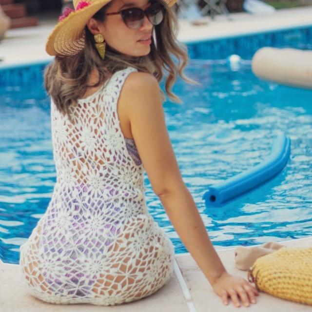 Summer crochet cover up