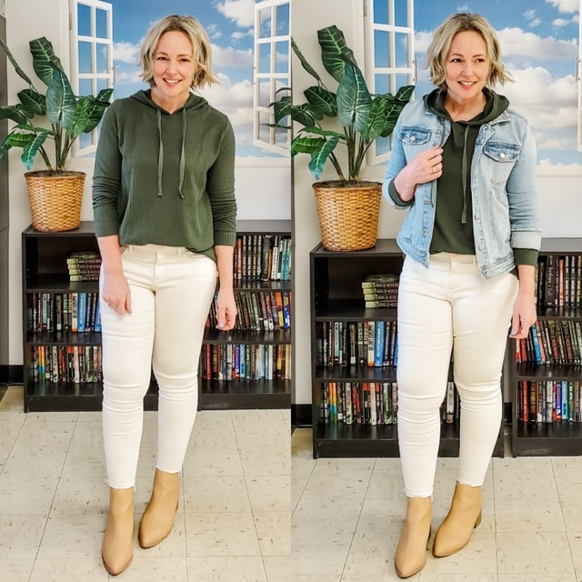 #olive #whitejeans #booties #casual #petite #mom  #ShopStyle #MyShopStyle #Winter #Lifestyle #Petite #TrendToWatch #Vacation