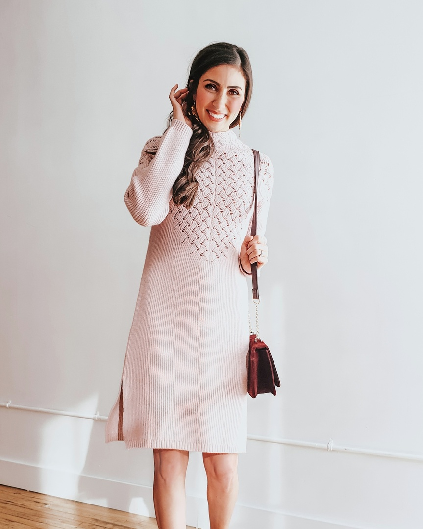 d8a1da1a1 I love a good sweater dress with some boots for a cute winter look! #