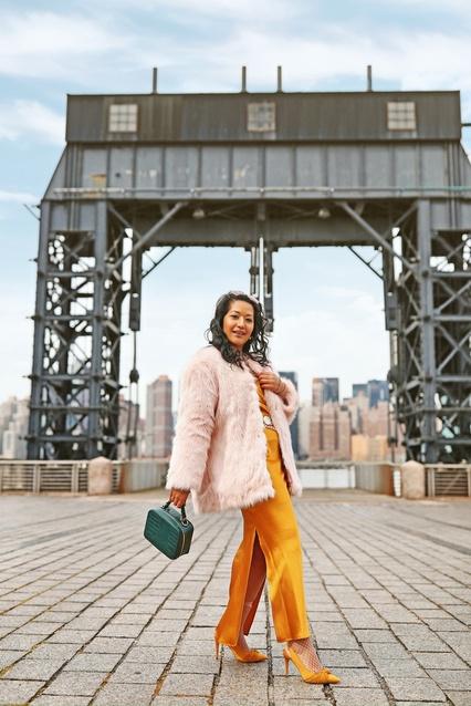 Glam girl winter slip dress outfit #kritys #slipdress #glamgirl