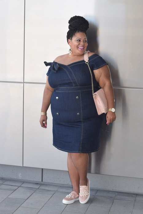 sweetheart denim dress