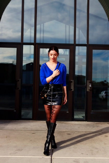 Watch #Travel #pantonecolor #blue #pearls #patentskirt #ootd #trendsetter #edgy #chic #tryonhaul #fashionista #style #fashion