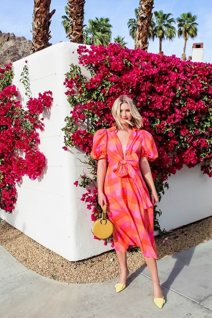 One of my favorite spring dresses! I love the bright bold hues in this dress that make it pop against any backdrop! Pair it with a bright colored mini bag to complete the look🌺 #ShopStyle #MyShopStyle #ContributingEditor #Vacation #Travel