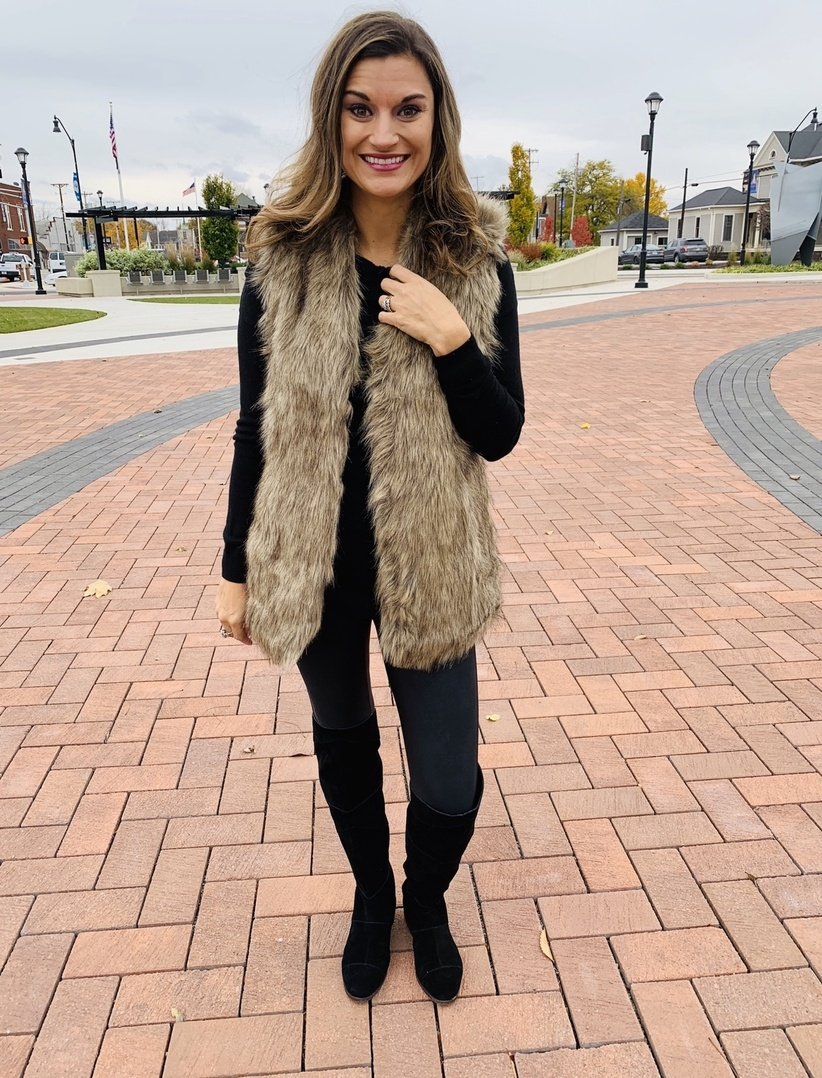 Tanming Womens Fashion Autumn And Winter Warm Short Faux Fur Vests