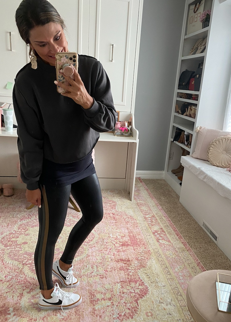 Look by Just Posted featuring Women's Cropped Hoodies Long Sleeve Reverse Stitch Fleece Sweatshirts Crop Tops