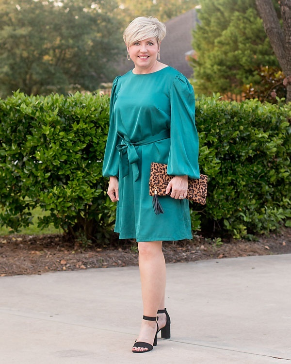 Look by Savvy Southern Chic featuring The Drop Women's @shopdandy Belted Silky Stretch Dress