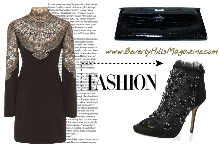 Look by BevHillsMag featuring Cucculelli Shaheen Scallop Armor Embroidered Silk Mini Dress
