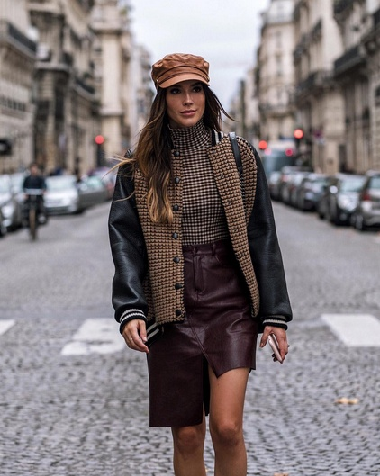 On my way to the #akris show yesterday, wearing the softest cashmere/leather bomber jacket from the line. #wearitloveit #getthelook #lookoftheday #ootd #mylook #fallstyle #akris #pfw #paris #parisfashionweek #leatherskirt #todaysdetails #currentlywearing