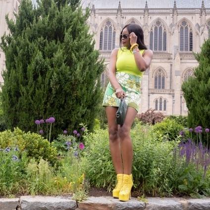 Multi Color Mini Skirt