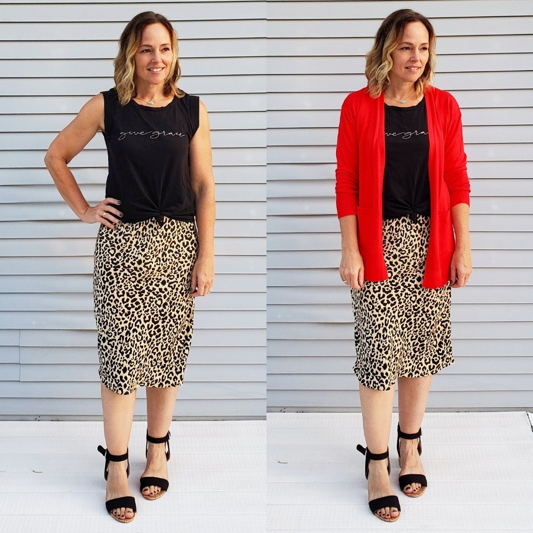 French Connection Womens Animal Print Skirt