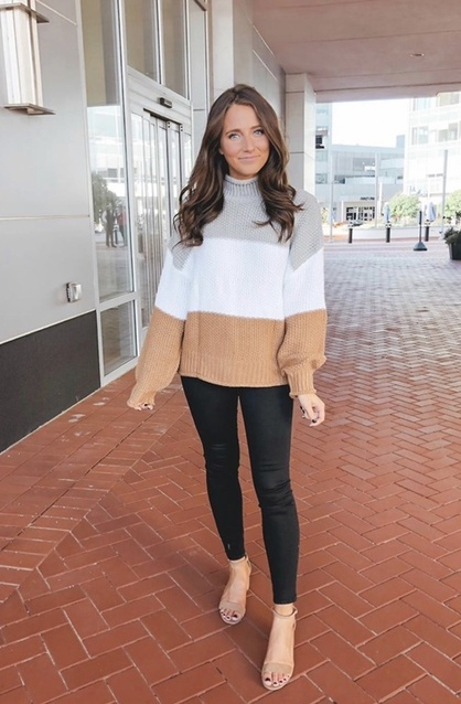 weaters #colorblocksweaters #turtlenecksweaters #winteroutfitideas #trending2020 #womensfashion #cuteoutfitideas #cozyoutfits