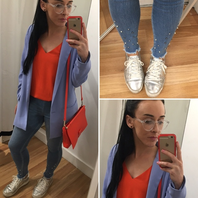 a splash of vibrant orange is today's outfit colour palette #ShopStyle #MyShopStyle #ootd #mystyle #mylook #smartcasual #ss19