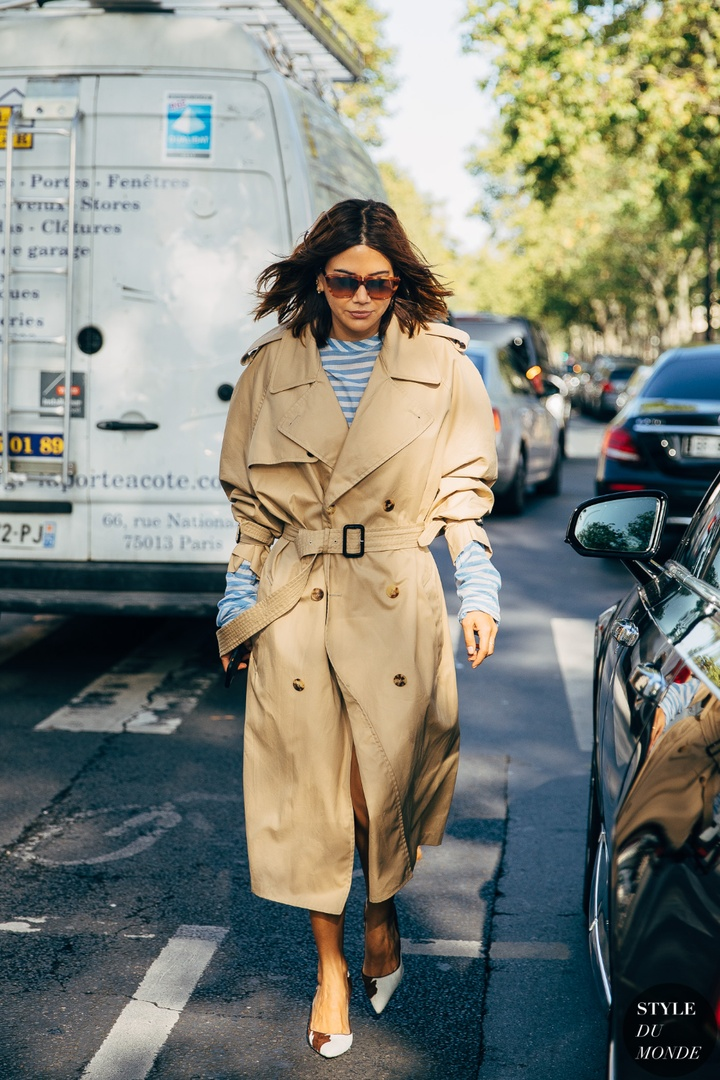 Look by Yana Echko featuring Walter Baker Deandre Knotted Twill Trench Coat