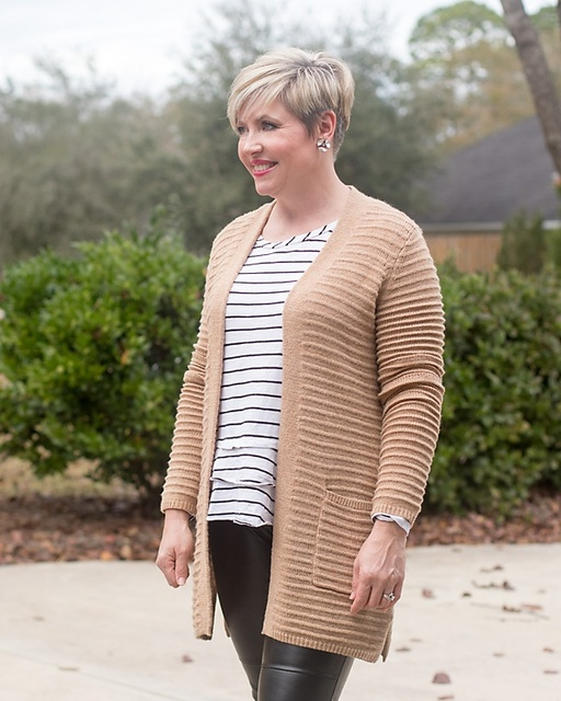 Texture and stripes #ShopStyle #MyShopStyle #winterstyle #fashionover40