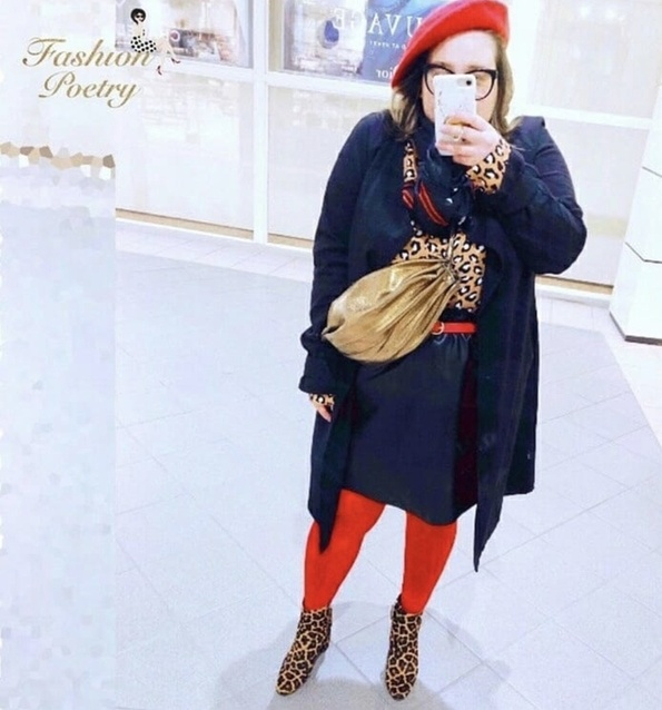 can start looking your inner ROAR. #LooksChallenge #TrendToWatch #Petite #leopard #MyShopStyle #LeopardPrint #Frenchie #Beret