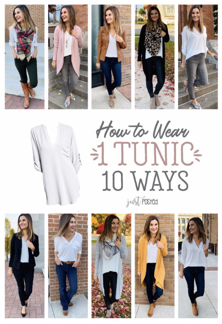 Look by Just Posted featuring All in Favor Perfect Henley Tunic