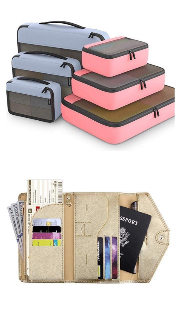 Look by Kristi Hemric featuring Zoppen Multi-purpose Rfid Blocking Travel Passport Wallet (Ver.4) Tri-fold Document Organizer Holder