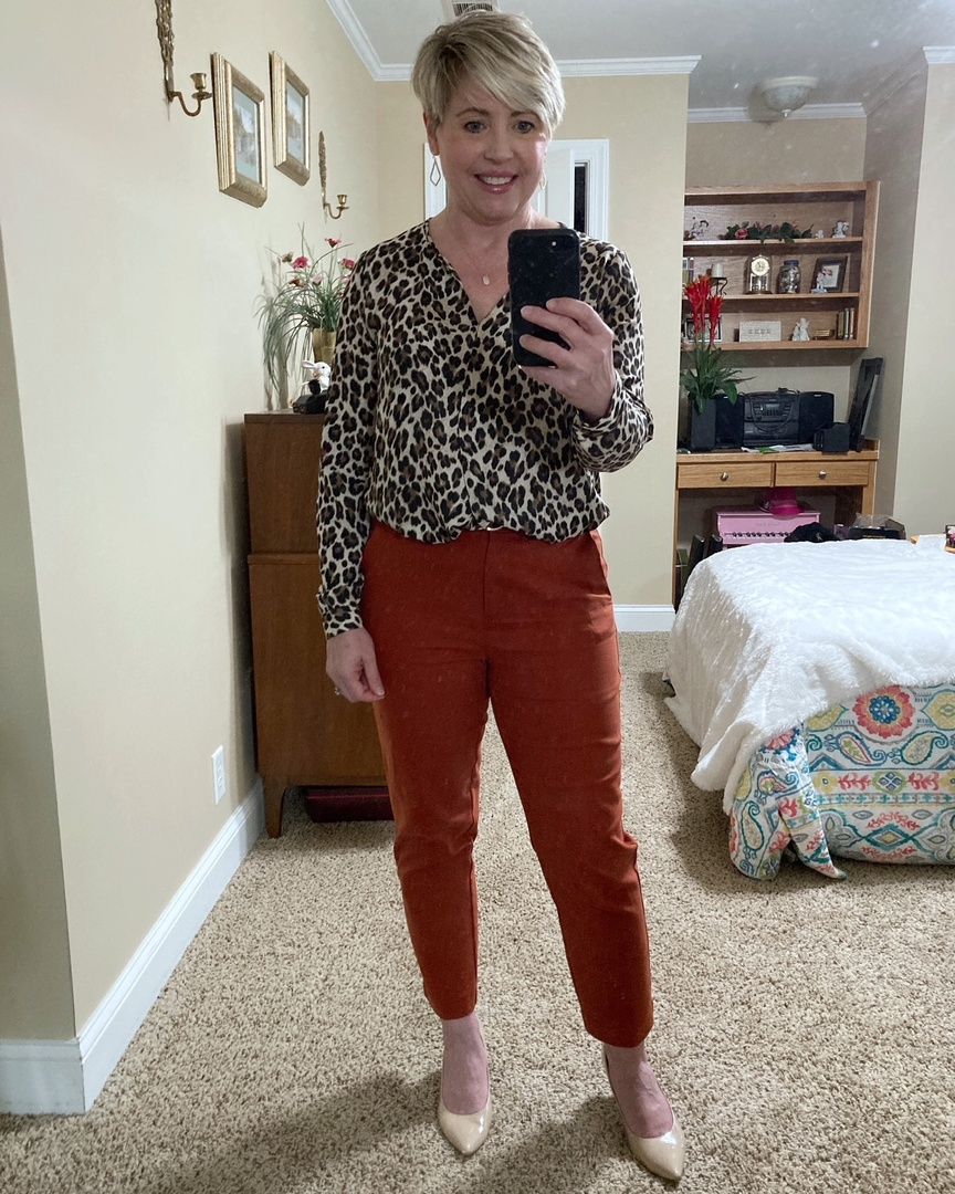 Look by Savvy Southern Chic featuring Leopard V-Neck Top