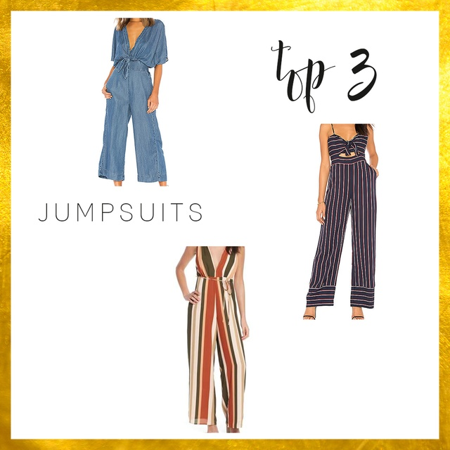 #TOP3 Jumpsuits