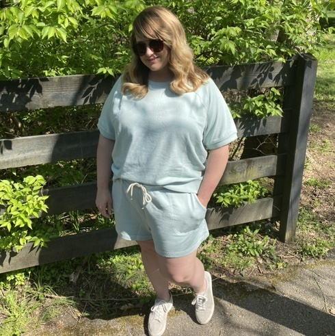 comfortable to wear around the house, but also cute enough for a neighborhood walk. It comes in several different colors too!
