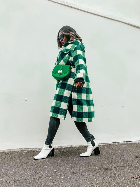 shop this check green coat inspired look  #ShopStyle #MyShopStyle #Winter