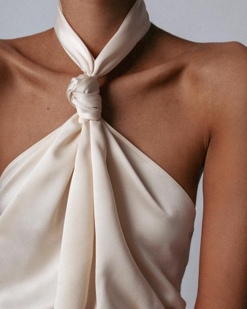 Look by Débora Rosa featuring H&M Silk shirt dress