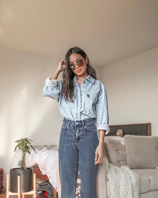 blue jeans, baby #denim #shirtjacket #ShopStyle #MyShopStyle #LooksChallenge #Lifestyle #Petite #TrendToWatch