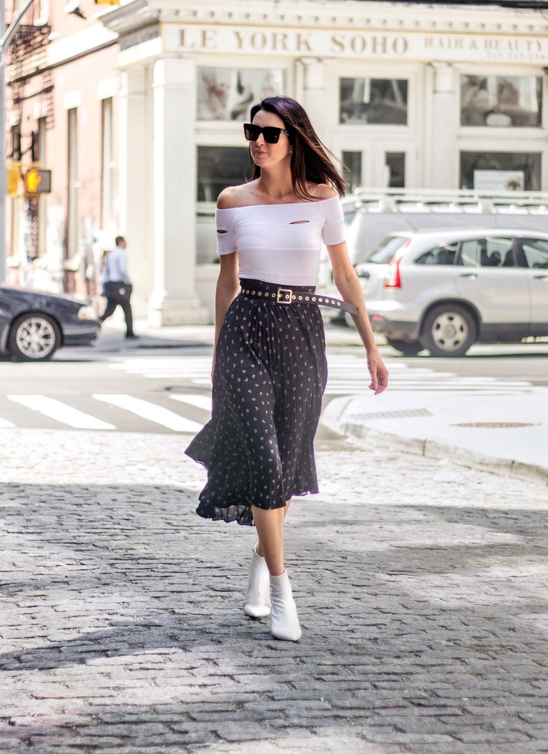 It's time to start pairing your microfloral maxi skirts and dresses with ankle booties. Happy first week of fall!  #fallstyle #fallfashion #floral #maxi #boots #whiteboots #streetstyle #ssCollective #ShopStyleCollective #MyShopStyle #ootd #mylook #summerstyle #lookoftheday #currentlywearing #todaysdetails #getthelook #wearitloveit